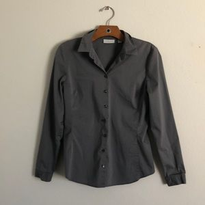 Grey button long sleeved button up